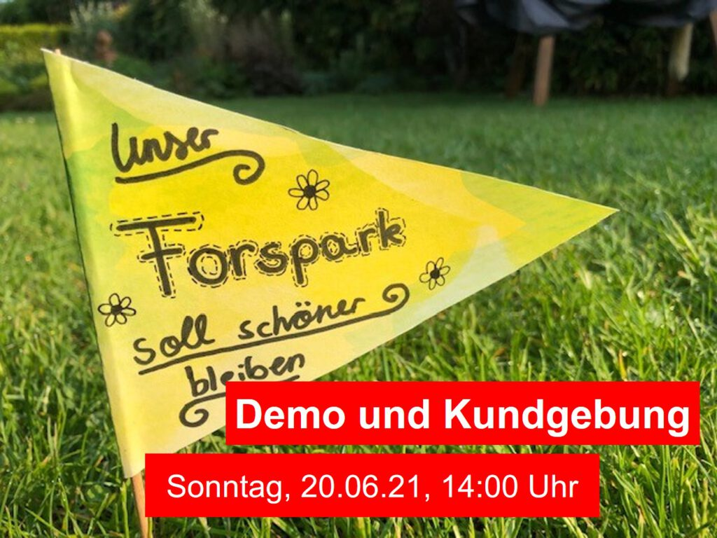 Fahne ForsPark Demo 20.06.21
